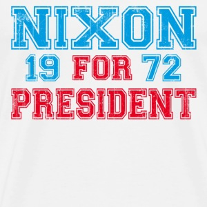 White Nixon 1972 retro T-Shirts - Men's Premium T-Shirt