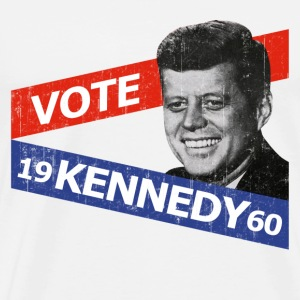 Natural JFK Kennedy Retro  T-Shirts - Men's Premium T-Shirt