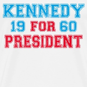 Natural Kennedy 1960 Retro T-Shirts - Men's Premium T-Shirt