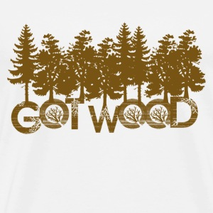 Natural Shaun Dead Got Wood T-Shirts - Men's Premium T-Shirt
