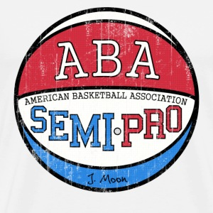 Natural Semi Pro ABA Tropics Moon T-Shirts - Men's Premium T-Shirt