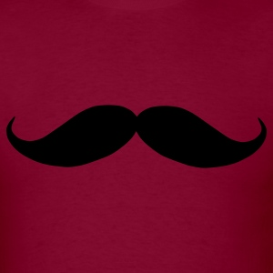 Burgundy Mustache T-Shirts - Men's T-Shirt