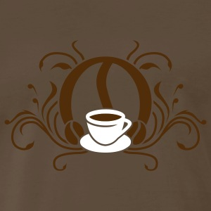 Chocolate coffee_coat_of_arms_2c T-Shirts - Men's Premium T-Shirt