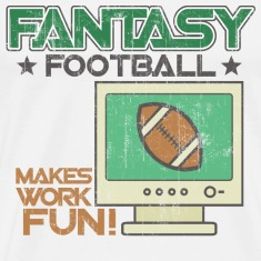 Natural Fantasy Football Work T-Shirts