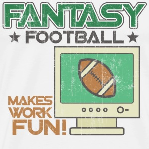 Natural Fantasy Football Work T-Shirts - Men's Premium T-Shirt