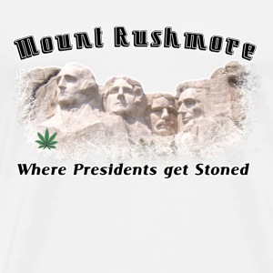 Natural Stoned THC Weed Rushmore  T-Shirts - Men's Premium T-Shirt