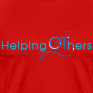 Men's Helping OThers Red T-Shirt - Men's Premium T-Shirt