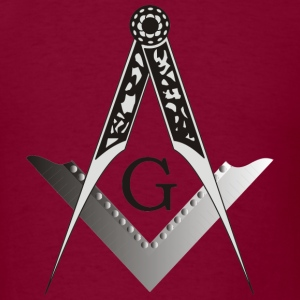 Masonic Square and Compass - Men's T-Shirt