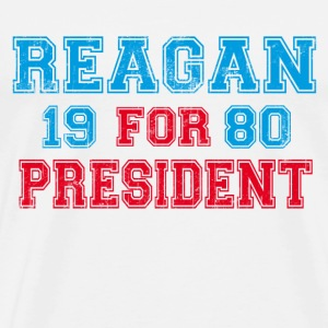 Natural Ronald Reagan 1980 Retro  T-Shirts - Men's Premium T-Shirt
