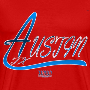 Red WW Austin 3 T-Shirts - Men's Premium T-Shirt