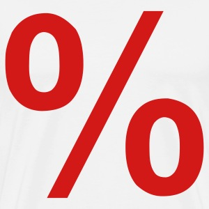 White Percent - Sale - Price T-Shirts - Men's Premium T-Shirt