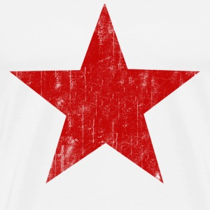 Natural Red Star faded  T-Shirts - Men's Premium T-Shirt