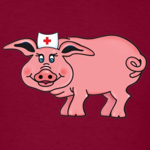 Burgundy Nurse piggy (DDP) T-Shirts - Men's T-Shirt