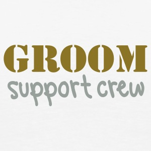 Natural Groom support crew T-Shirts - Men's Premium T-Shirt