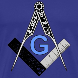 Masonic Square and Compass - Men's Premium T-Shirt