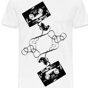 White Cassette Tape T-Shirts - Men's Premium T-Shirt