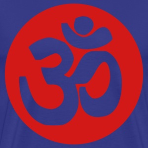 Royal blue Om T-Shirts - Men's Premium T-Shirt