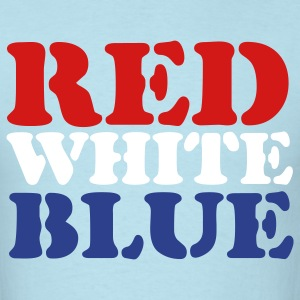 Sky blue Red White Blue T-Shirts - Men's T-Shirt
