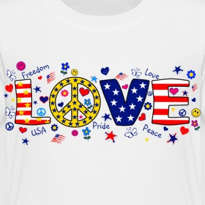 White American Love with peace sign Toddler Shirts - Toddler Premium T-Shirt