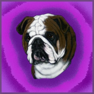 Purple English Bulldog Design T-Shirts - Men's Premium T-Shirt