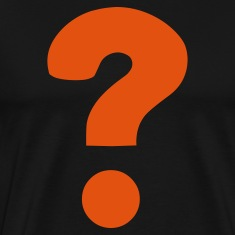 Black Question Mark / ? T-Shirts