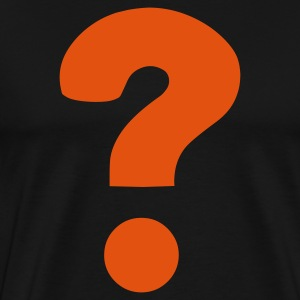 Black Question Mark / ? T-Shirts - Men's Premium T-Shirt
