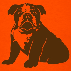 Orange bulldog_puppy_v1_1c T-Shirts - Men's T-Shirt