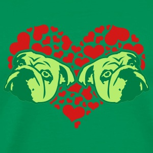 Bright green bulldog_love_v1_3c T-Shirts - Men's Premium T-Shirt