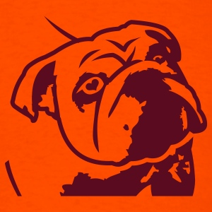 Orange bulldog_olga T-Shirts - Men's T-Shirt