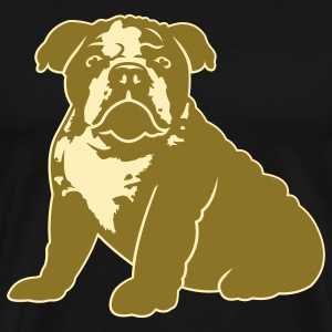 Black bulldog_puppy_v1_2c T-Shirts - Men's Premium T-Shirt