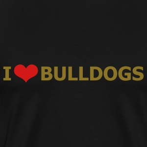 Black bulldog_i_love_bulldogs_2c T-Shirts - Men's Premium T-Shirt