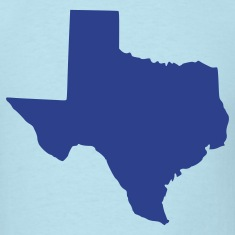 Sky blue Texas T-Shirts