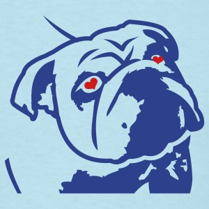 Sky blue bulldog_olga_v2 T-Shirts - Men's T-Shirt