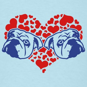 Sky blue bulldog_love_v1_2c T-Shirts - Men's T-Shirt