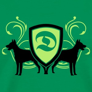 Bright green dobermann_v3_2c T-Shirts - Men's Premium T-Shirt