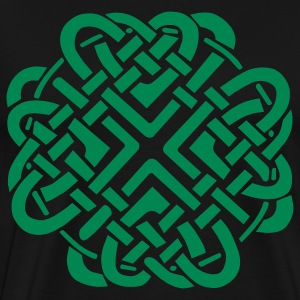 Black Celtic Love Knot T-Shirts - Men's Premium T-Shirt