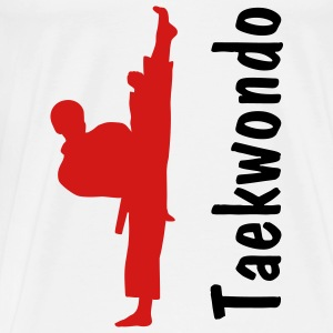 Taekwondo Guy In White T-Shirt - Men's Premium T-Shirt