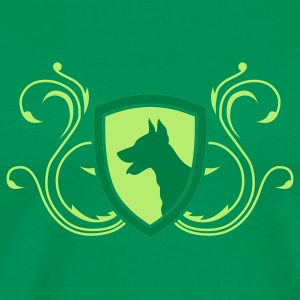 Bright green dobermann_v4_2c T-Shirts - Men's Premium T-Shirt