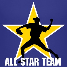 Royal blue baseb all star team pitcher Kids' Shirts