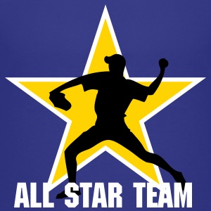Royal blue baseb all star team pitcher Kids' Shirts - Kids' Premium T-Shirt