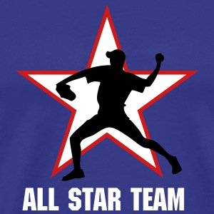 Royal blue baseb all star team pitcher T-Shirts - Men's Premium T-Shirt