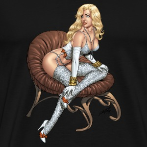 Men's Heavyweight - Sexy Al Rio Girl #2 - Men's Premium T-Shirt