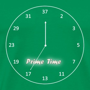 Prime Time - White - Men's Premium T-Shirt