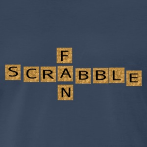 Navy SCRABBLE FAN T-Shirts - Men's Premium T-Shirt