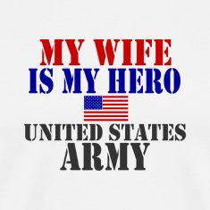 White WIFE HERO ARMY T-Shirts