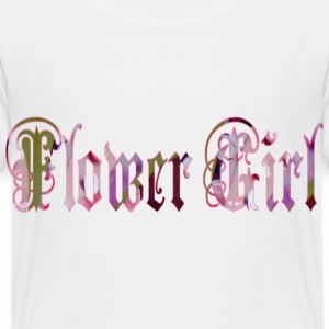 White FLOWER GIRL Toddler Shirts - Toddler Premium T-Shirt