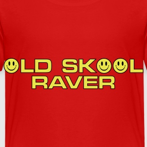 Red Old Skool Raver 2 Toddler Shirts - Toddler Premium T-Shirt