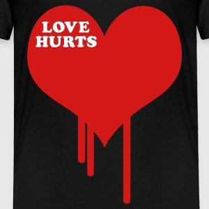 Black Love Hurts Toddler Shirts - Toddler Premium T-Shirt
