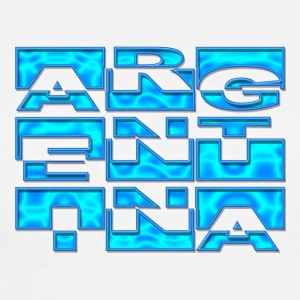 Argentina Name-Flag - Men's Premium T-Shirt