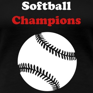 Black Custom softballl Plus Size - Women's Premium T-Shirt